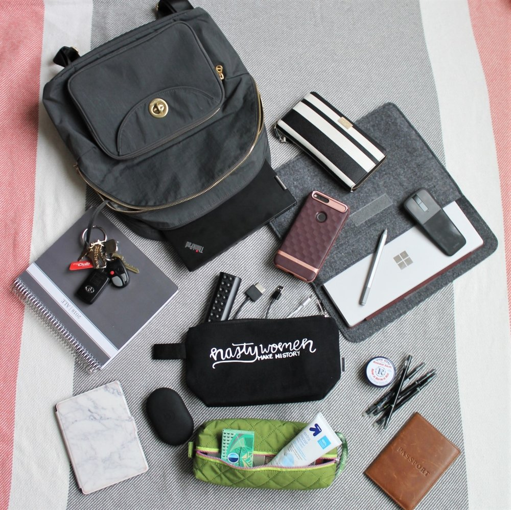 What's In My Work Bag? | Work & What She Wore