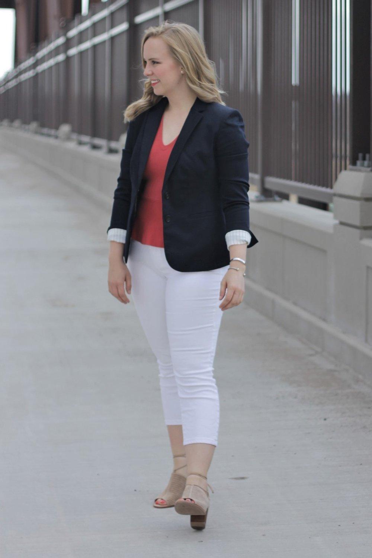 White Denim for Work | Work & What She Wore
