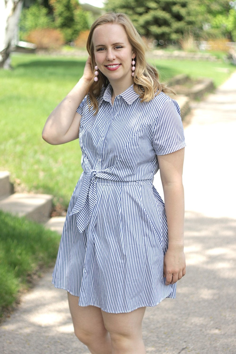 Feeling Summery | Nautical Striped Dress | Work & What She Wore