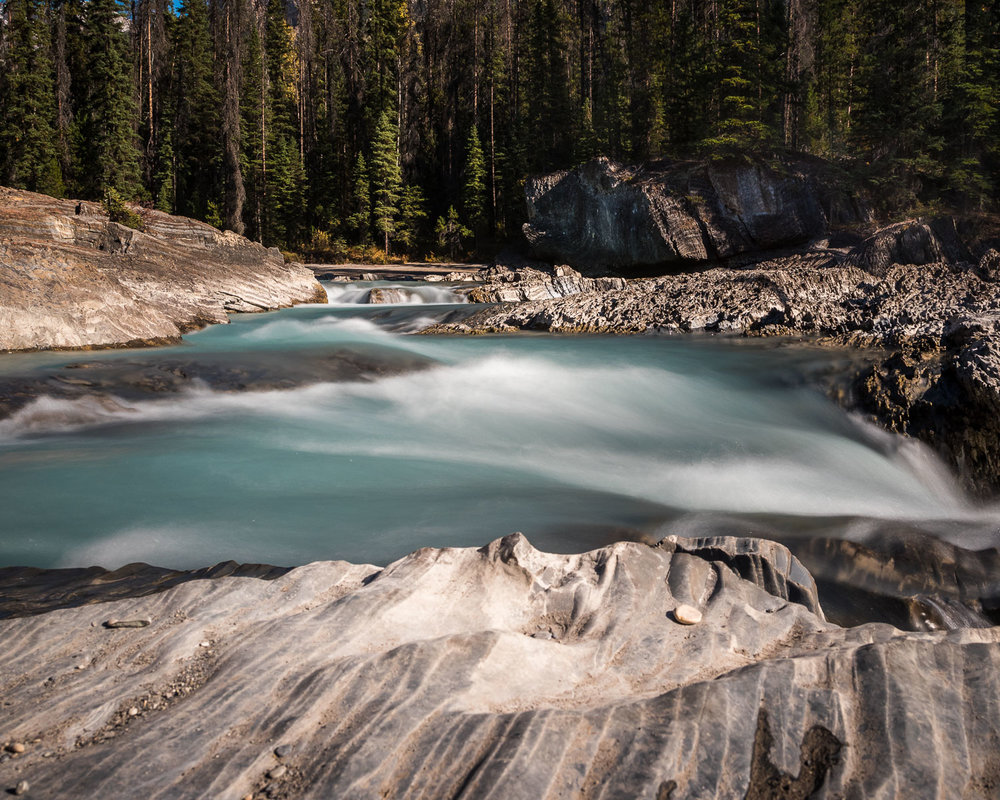 Kicking Horse River at Natural Bridge, Yoho NP