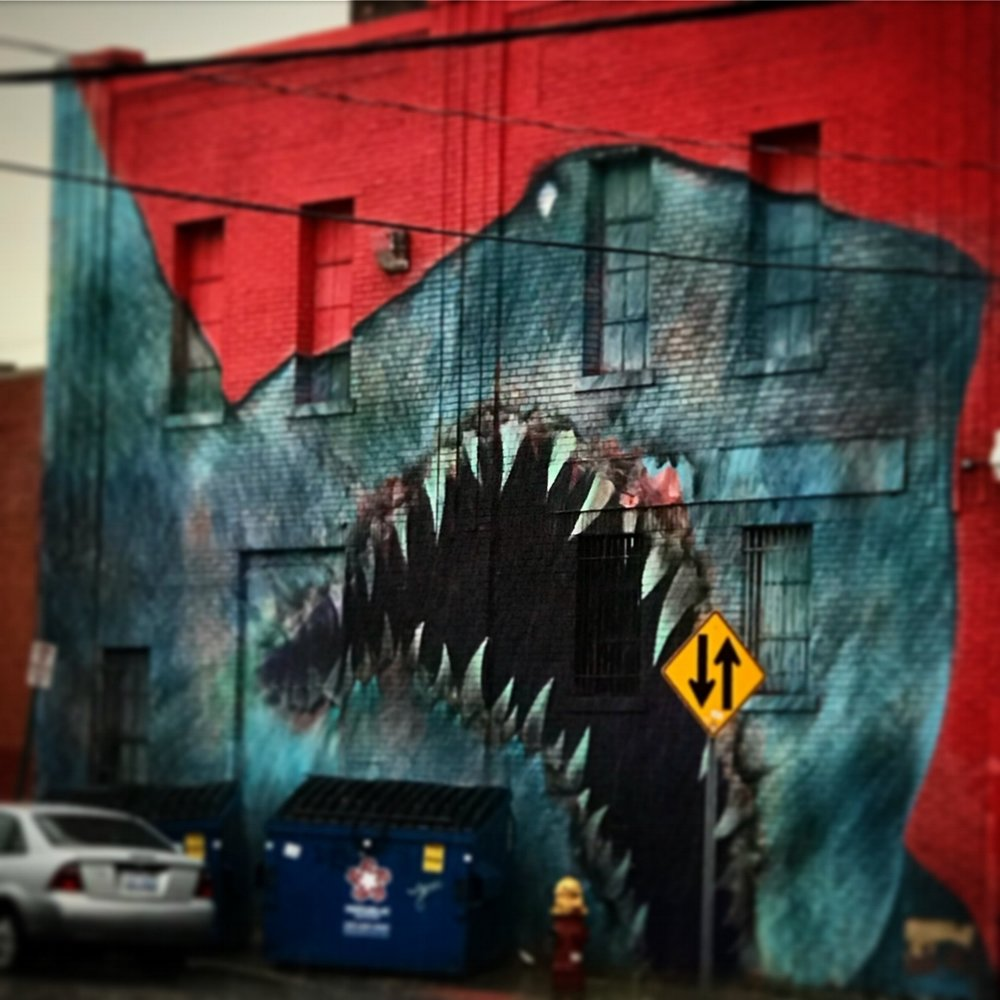 Shark Mural, Eastern Market, Detroit, Michigan, 2018.