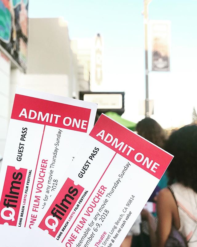 Thanks to Micky over at the @lbtimeexchange for gifting me with spare tickets and unknowingly giving ya girl a much needed nudge to finally check out QFilm Fest! Ending the work week with unexpected plans rules. #qfilmfestival #wildnightswithemily #longbeach #lbc