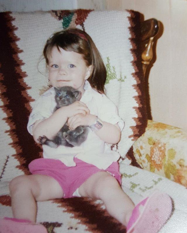 Let's just pretend my #InternationalCatDay post is late on purpose so it could also be a veeeerrrry #tbt.  P.S. Thanks for the pic Mom. 😽#CatLadyLifeChoseMe . . . #internationalcatday🐱 #internationalcatday2018 #internationalcatday😻 #catlady #catday #catdayeveryday
