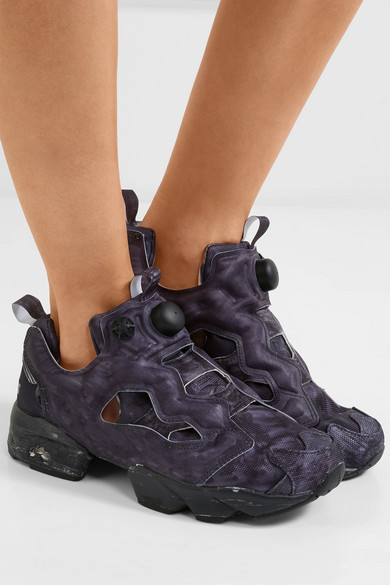 Vetements Rebok instapump purple