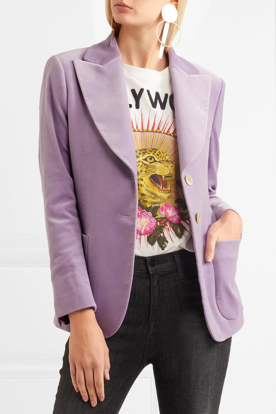 gucci lavender velvet blazer