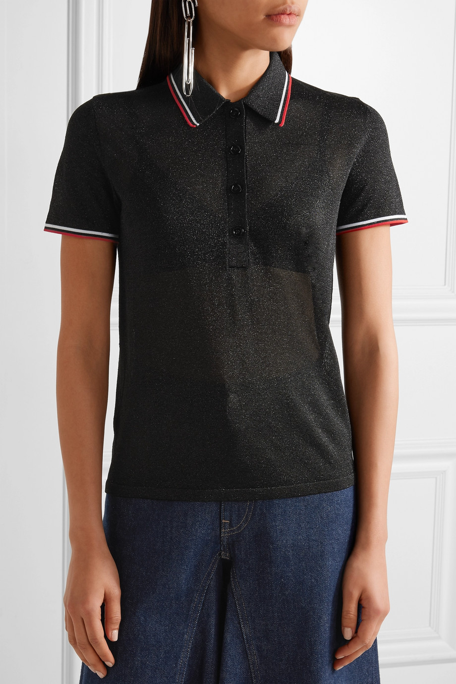 Alexander Wang metallic polo