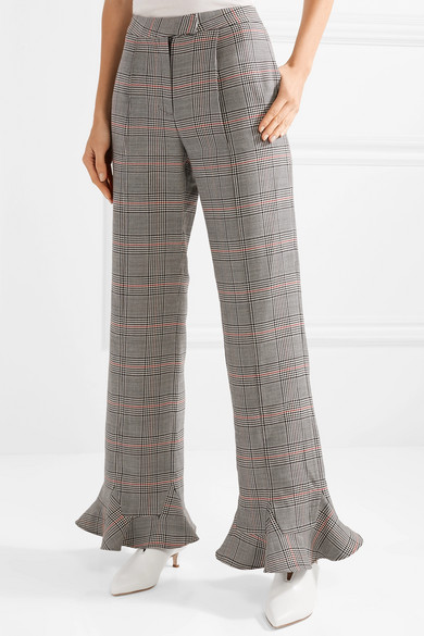 rosie assoulin plaid flares