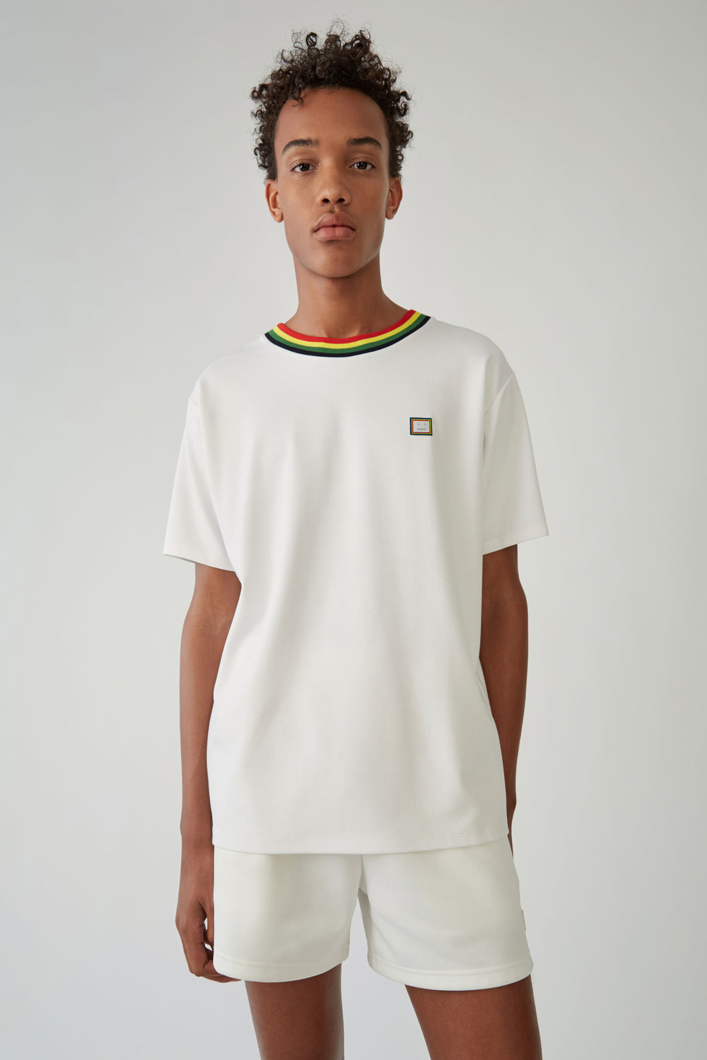 acne studios nash tee white