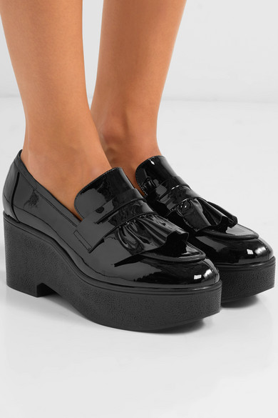 Robert Clergerie ruffled platform loafers