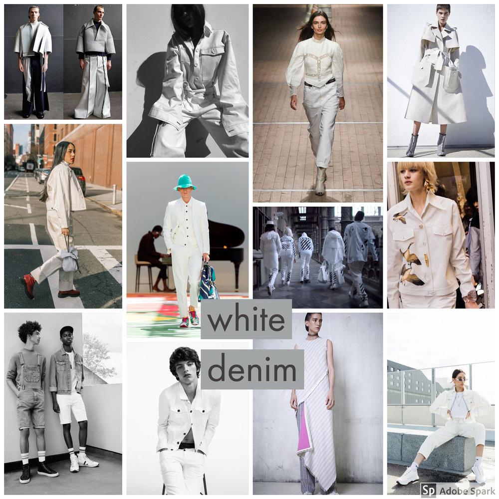 White denim fashion