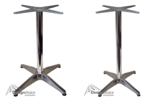 Milan  Dining Height  $100 inc.GST completely assembled  Bar Height  $150 inc.GST completely assembled  Heavy Duty Aluminium with design choice pivoting adjustable feet.