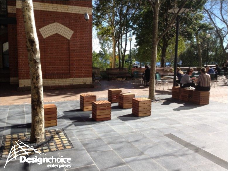 Northern Australian Hardwood Outdoor Ottomans - price on application   Custom Design Furniture