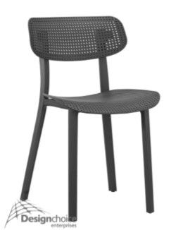 Allegro $150 inc.GST  Polypropylene Non-Stacking Alfresco Modern Sleek