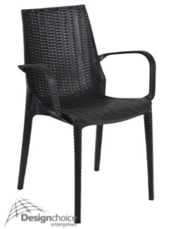 Balmoral $100 inc.GST  Polypropylene Wicker Stacking Alfresco Relaxed Essential