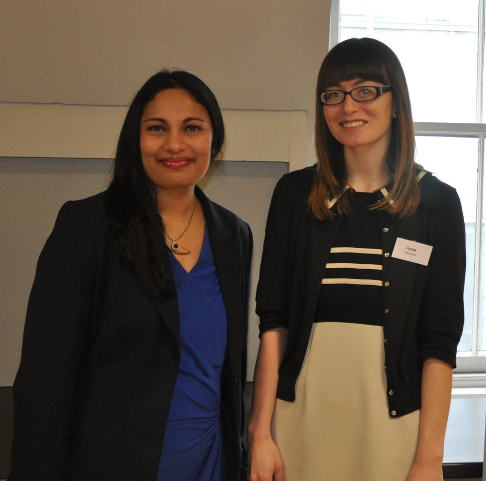 Photograph of SafeSpot founders, Dr Mallika Punukollu and Dr Fiona Mitchell