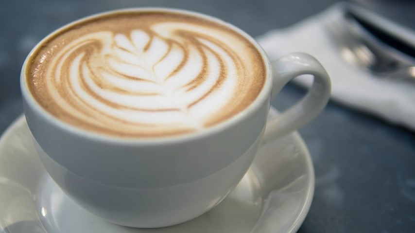 An image of a barista style coffee with foamed milk.