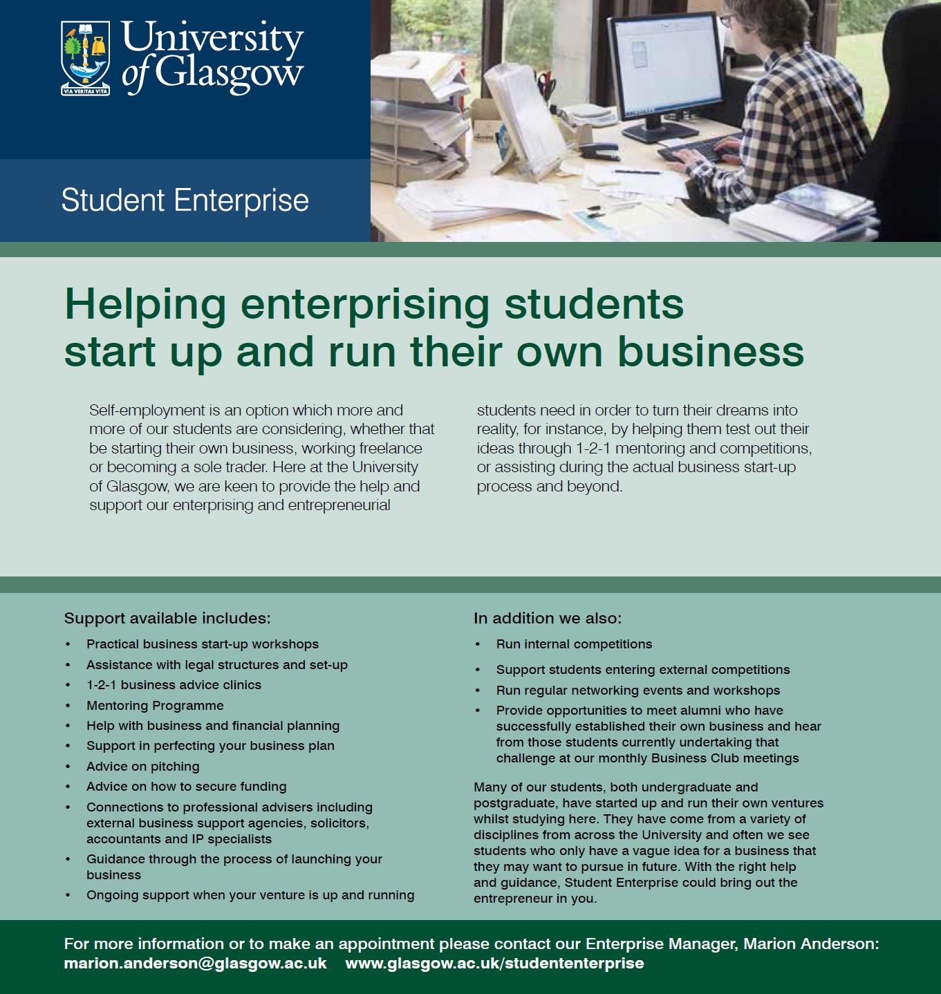 Starting Up: Entrepreneurship for PGRs — UofG Postgraduate