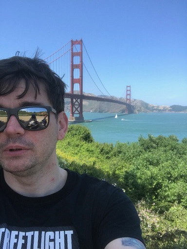 Here's an image of me at the Golden Gate Bridge being all sciency and stuff.