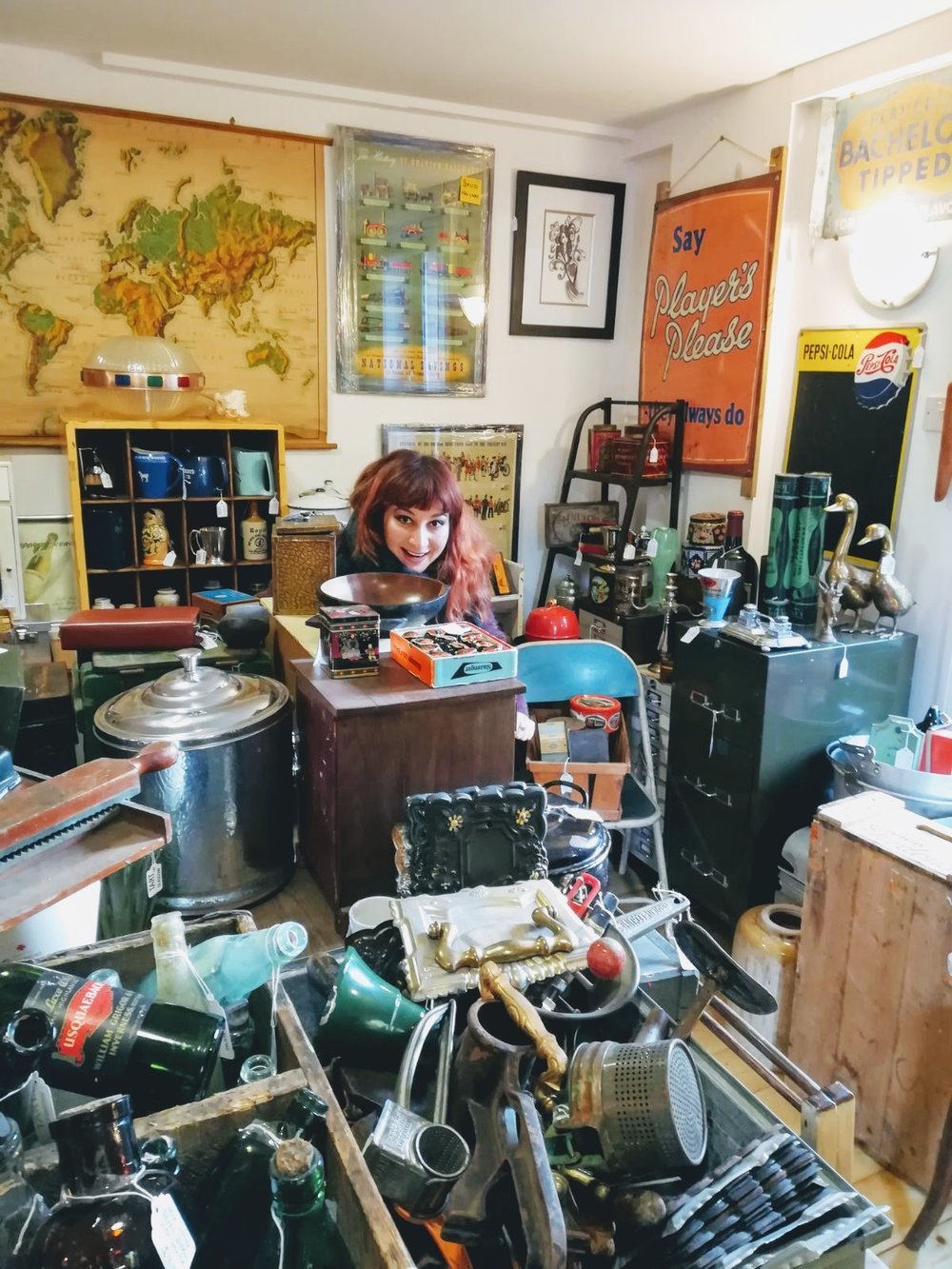 This is me surrounded by clutter