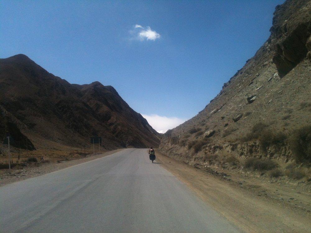 Cycling in Kyrgyzstan (Photo by Elizabeth Adams)