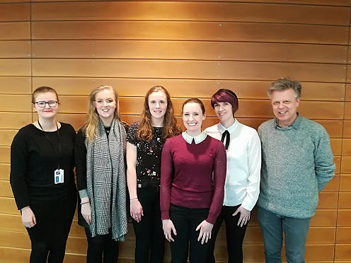 This year's winners and judges. L-R Jade Scott, Kate Powell, Jane Bugler, Alex Riddell, Kirsty Deacon, Kevin O'Dell.
