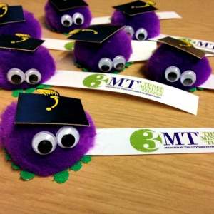 You might even get some really adorable freebies to decorate your desk with, like these 3MT bugs (photo Cia Jackson)