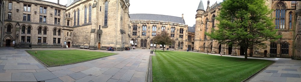 Panorama of the UofG's West Quadrangle