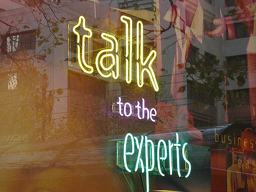 'Talk to the experts'  by Mai Le, CC BY