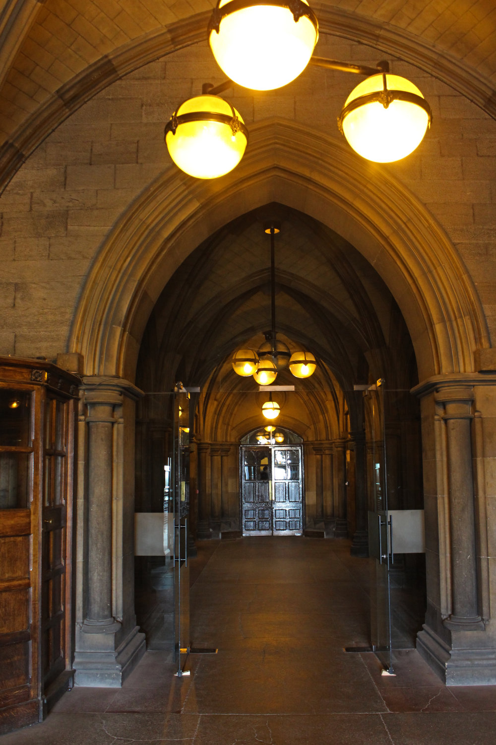 Hallway in the main building.
