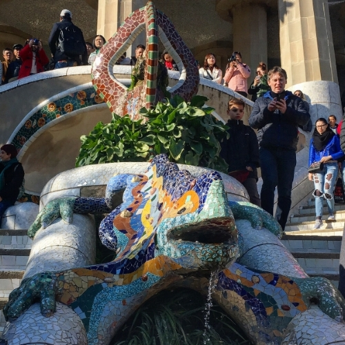 Gaudi's lizard in the must see attraction Parc Güell, Barcelona.