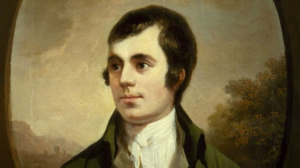 [Image Description: Portrait painting of a young Robert Burns.]