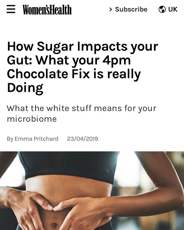 🍬SUGAR AND YOUR GUT🍫 . Check out what @thegutstuff @thenutridoctor and I've got to say on sugar and your gut in @womenshealthuk (link in bio ☝️) . . . #womenshealth #thegutstuff #nutritionist #guthealth #guthealthnerd #gutbacteria #gutbugs #feedyourgut #microbiome #microbiota #eattherainbow #fibre #sugar #balance