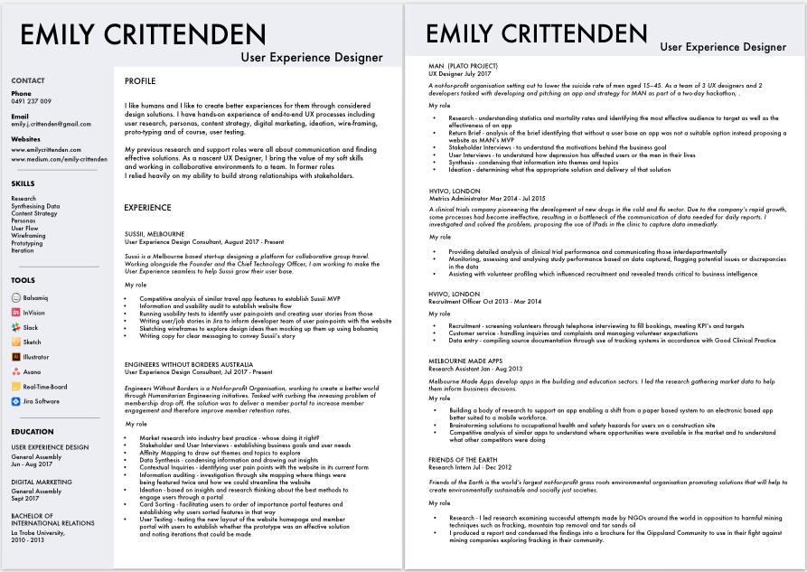 resume emily crittenden