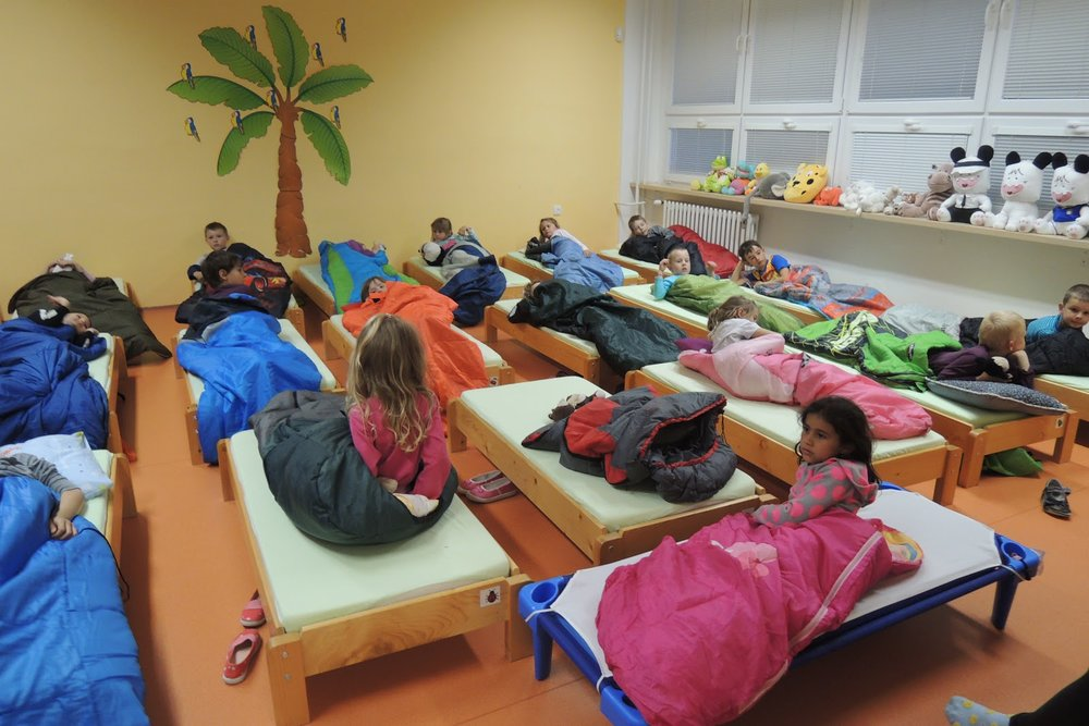Sleep out with preschoolers
