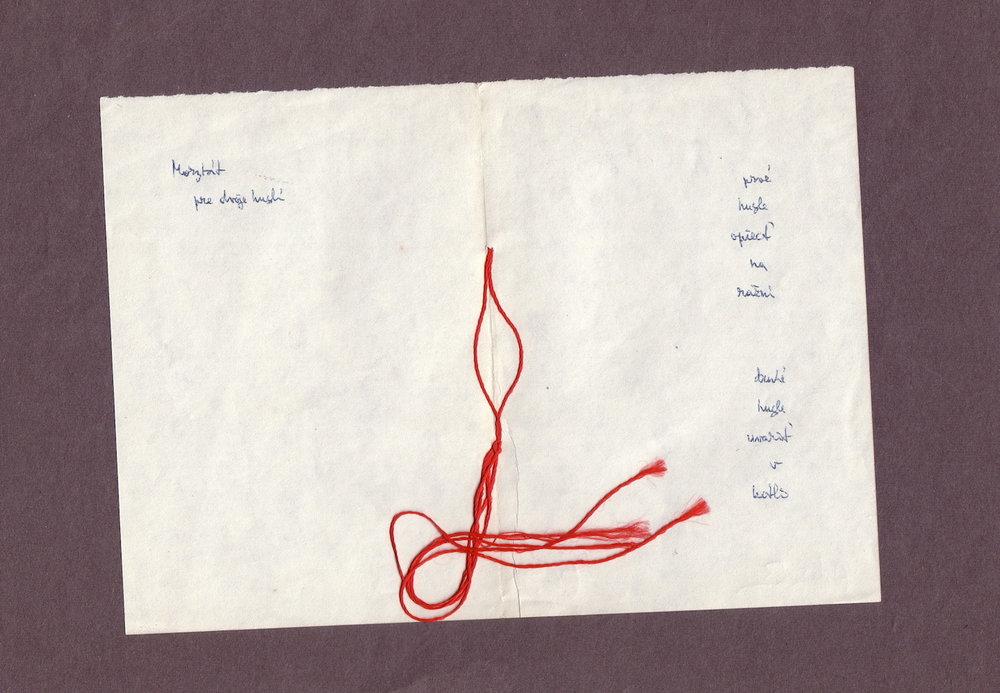 1966 cca, Morytát pre dvoje huslí, kombinovaná technika na papieri, 21x30 cm