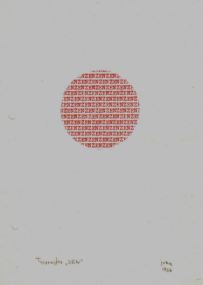 1966, Typoraster ZEN, písací stroj, 21x15 cm