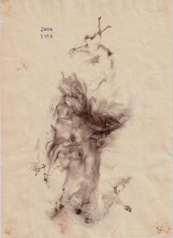 1969, obrazová poézia 3, tuš, 20,5x14 cm