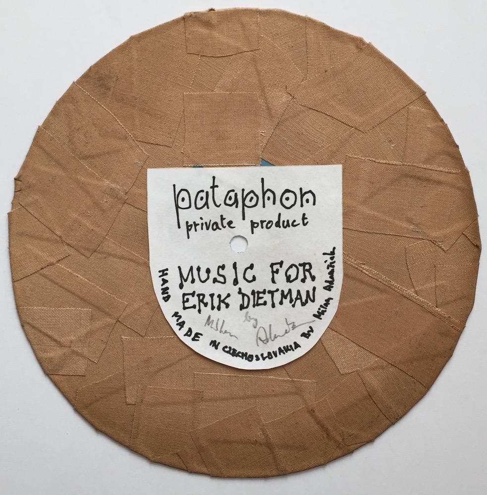 1973, Music for Erik Dietman, objekt - pataphon, priemer 18 cm