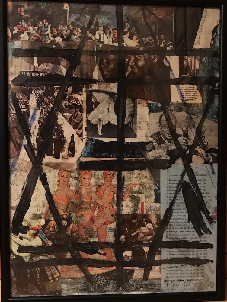 1963 - 64, bez názvu, koláž a maľba, 45x33 cm