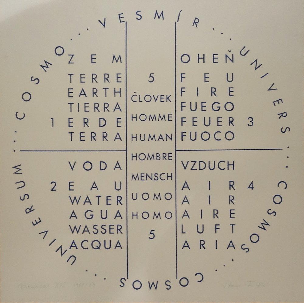 1968 - 69, Asociácie XVII, tlač na plaste, 55x55 cm