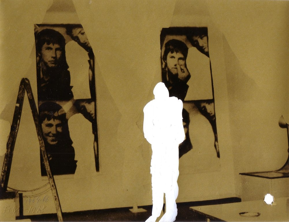 1978, Transcendency, kombinovaná technika na fotografii, 18x23 cm