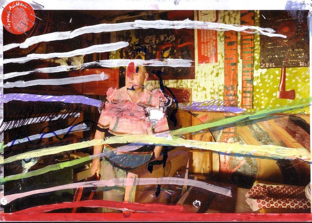 2010, Autoportrét, kombinovaná tech, 29,5x21 cm