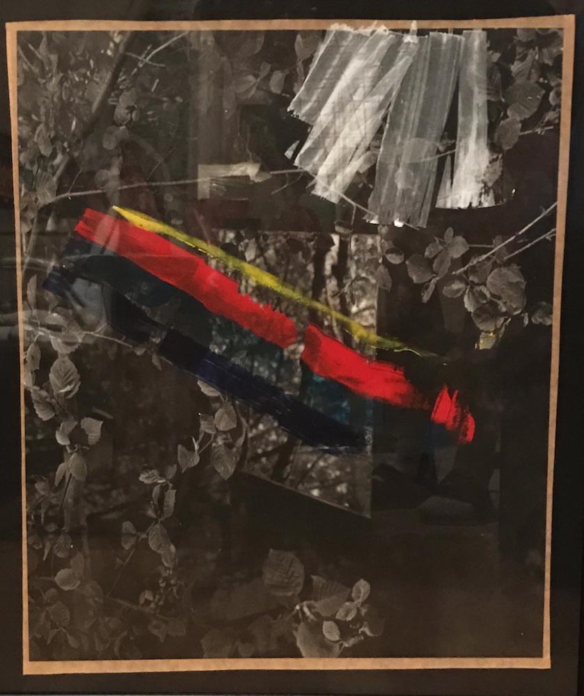 1978, Zrkadlenie, kombinovaná technika na fotografii, 50x62 cm