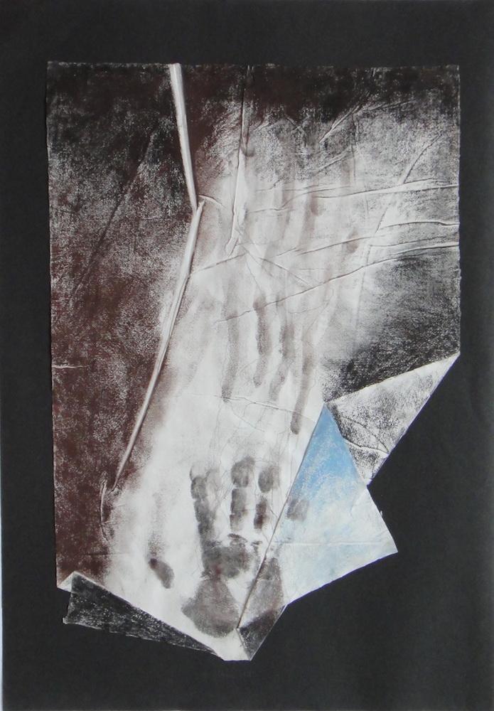1993, Kresba z jaskyne, kombinovaná technika, 57x40 cm