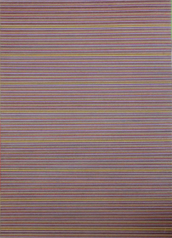 2000, z cyklu Partitúry, básne, listy-iné možnosti, kresba pastelkou, 91x66 cm