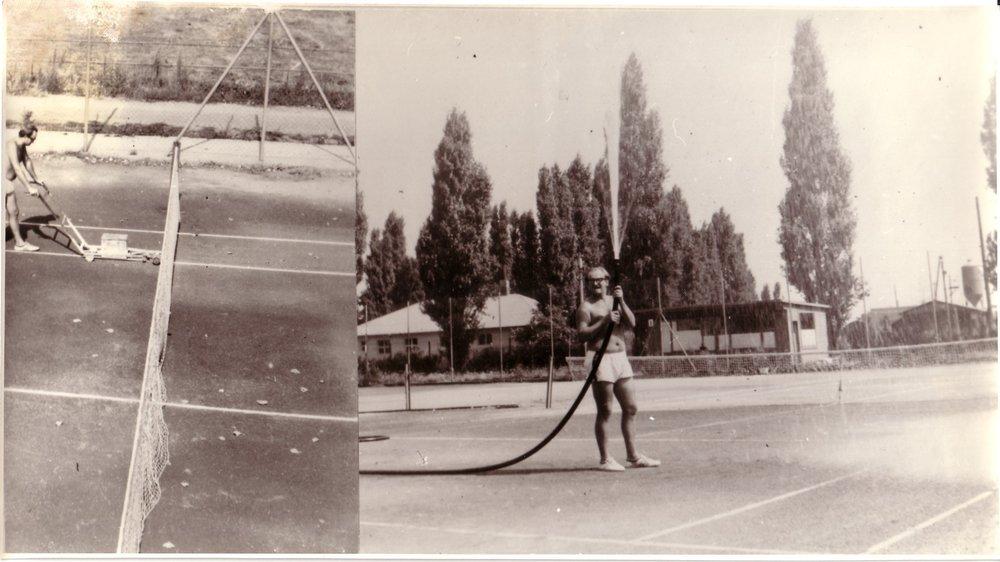 1968, Časopriestorové vymedzenie psychofyzickej činnosti matérie (tenis), fotografia, 28x15,5 cm