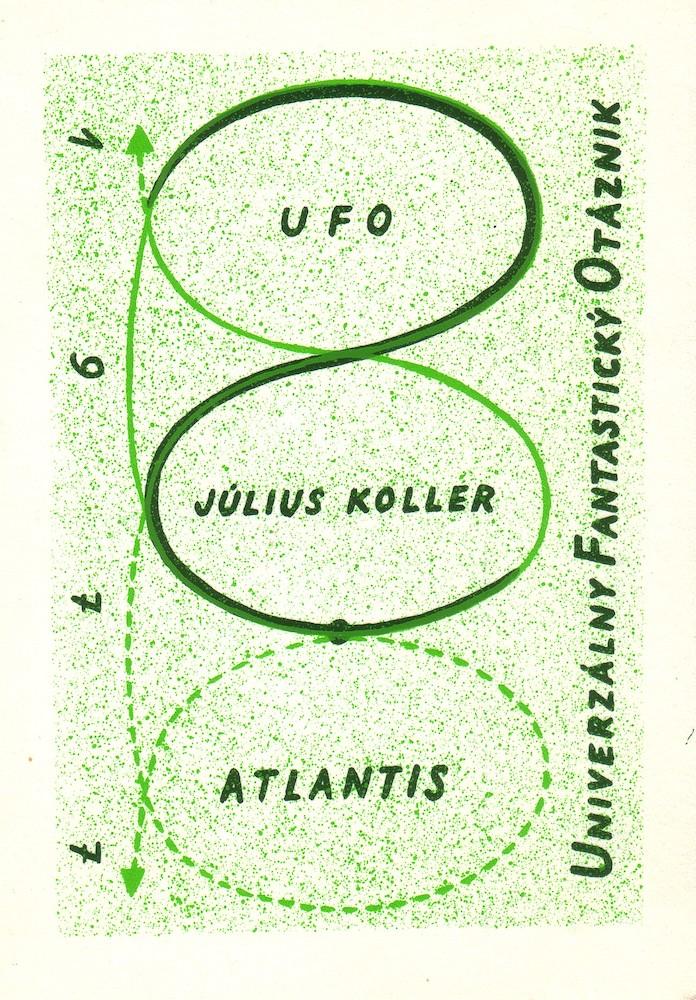 1977, Atlantis, Univerzálny Fantastický Otáznik, komb tech, 15,6x11 cm