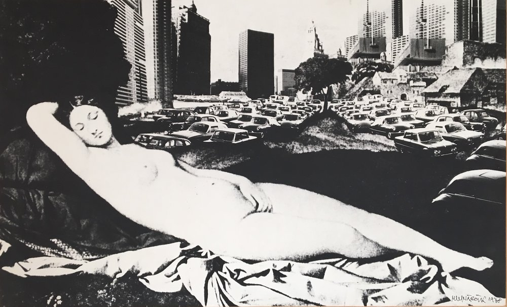 1978, Driemajúca venuša zvaná Argillská, tlač na kartóne, 56x92 cm