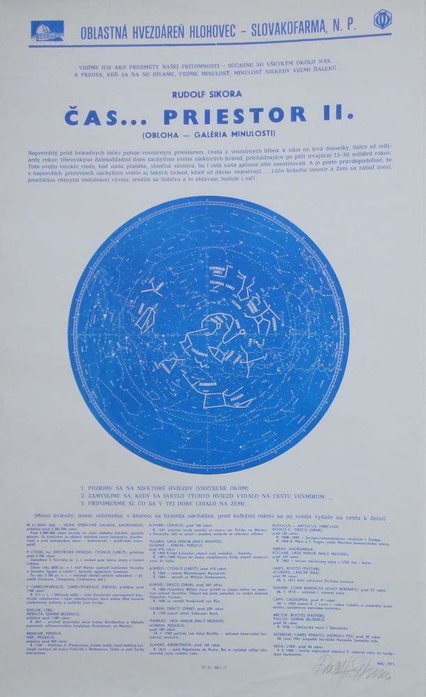 1971, Čas... priestor II., serigrafia, 42,5x70 cm