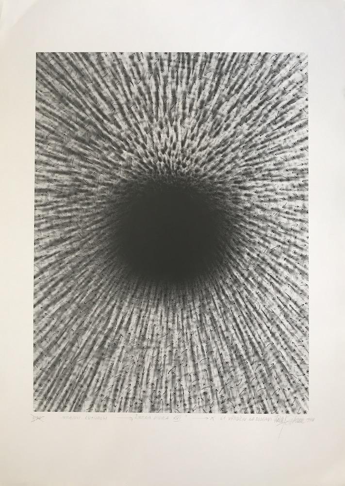 1976 - 79, Čierna diera, fotografia, číslo A-A, 41x27,5 cm